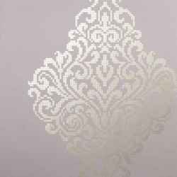 Lux Textured Damask Mauve