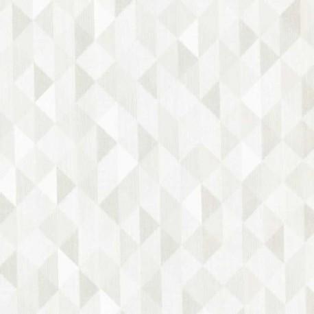 Buy Triangle White Silver Fd Dl20934 Art Deco Fabric Wallpaper