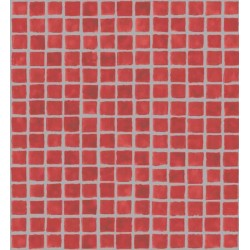 Mosaic Tile Sidewall Red and Silver