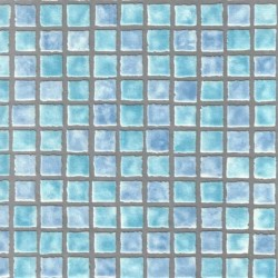 Mosaic Tile Sidewall Aqua