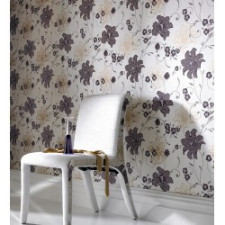Taffetia Purple & Beige Wallpaper