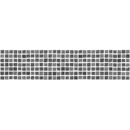 Buy mosaic tile black white border fd fdb50036 wallpaper direct - Frise adhesive salle de bain ...
