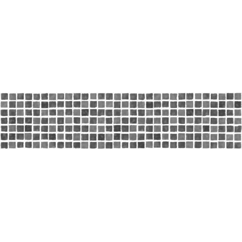 Buy mosaic tile black white border fd fdb50036 wallpaper - Frise adhesive salle de bain ...