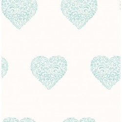 Hearts Sidewall Blue