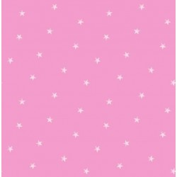 Ditsy Single Stars Bright Pink