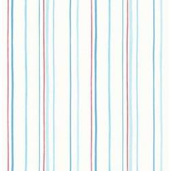 Mini Stripe Blue and Red