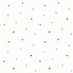 Ditsy Stars Blue and Red