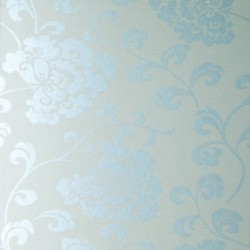 Regal Pale Blue and Silver Wallpaper
