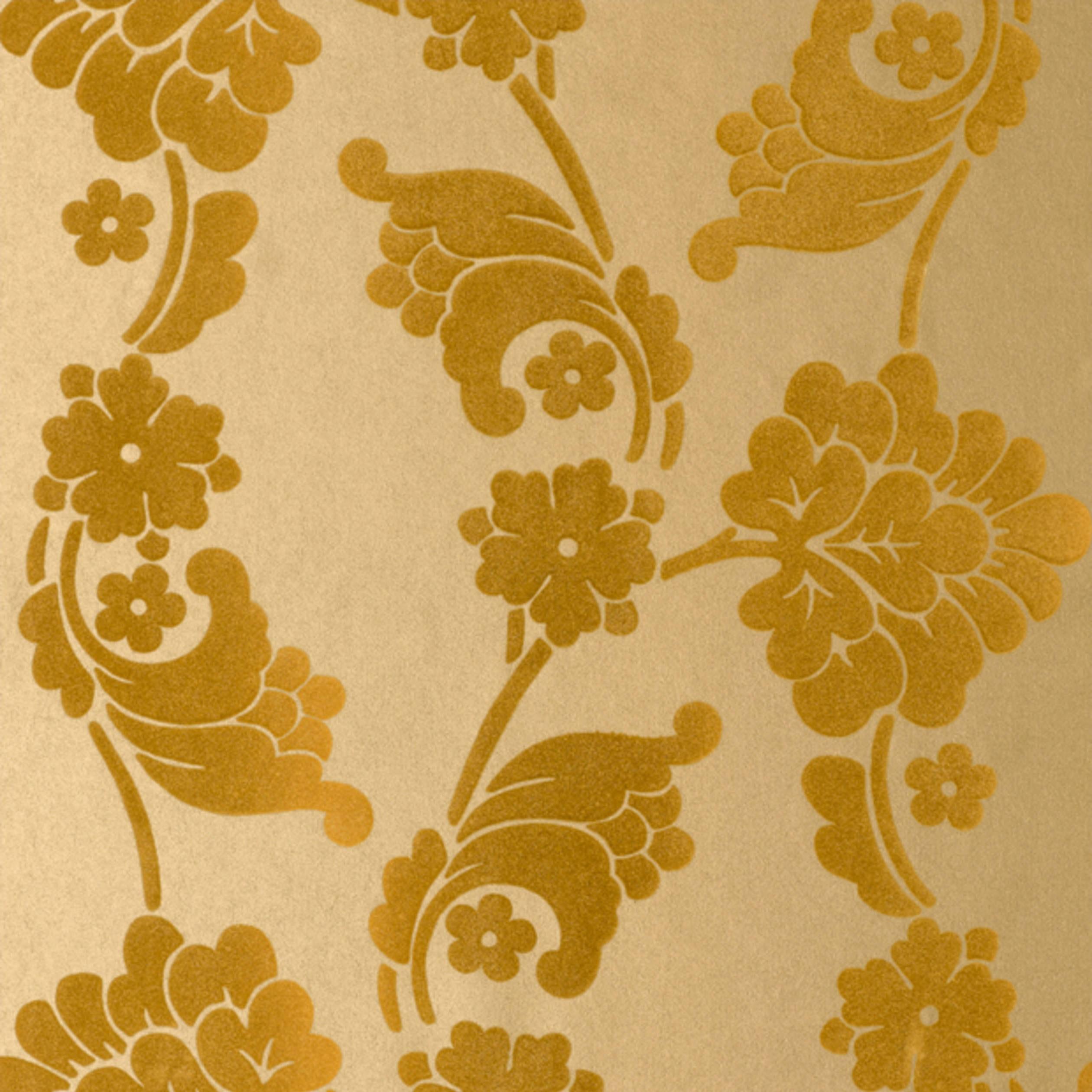 Wanders blue wanders forest flocked wallpaper damask wallpaper - Velvet Jacquard Flock Wallpaper