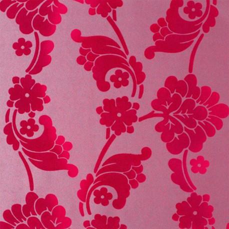 velvet jacquard flock fuchsia pink at10101 nw056