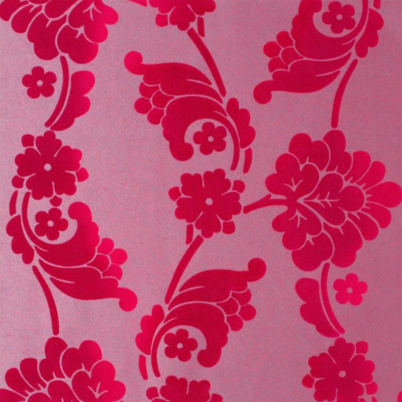 Velvet Jacquard Flock Fuchsia Pink-AT10101-NW056