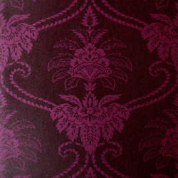 Damask Purple Wallpaper