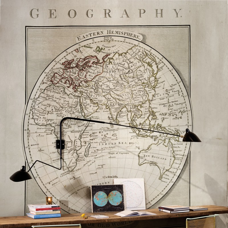 Old world map mural 4400091 for Antique world map mural