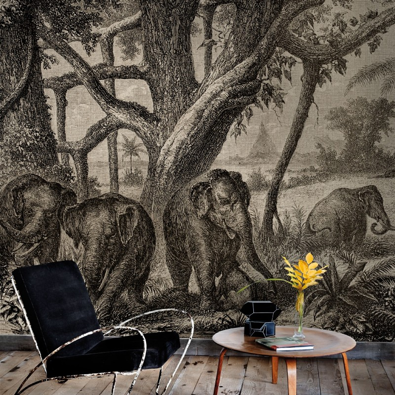 Elephants wall mural 4400093 for Elephant wall mural