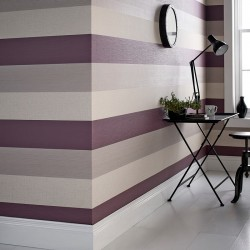 Java Plum Purple and Cream Stripe
