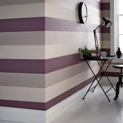 Java Plum Purple and Cream Stripe
