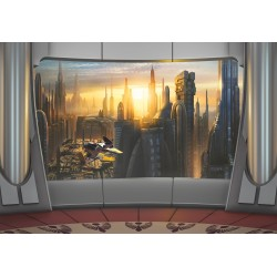 Coruscant View Wall Poster