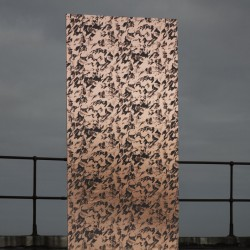 Desert Copper Rose and Grey Wallpaper