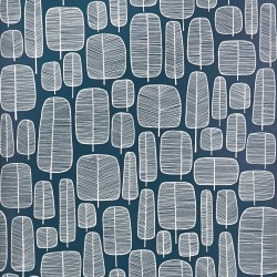 Little Trees Petroleum Blue Wallpaper