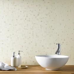 Spa Beige Tile Effect Wallpaper