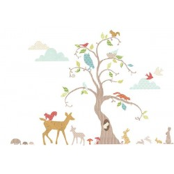 Woodland Tree Nursery and Bedroom Wall Sticker Kit