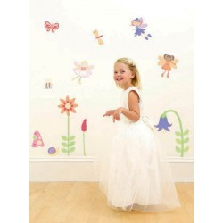 Enchanted Garden Fairies Girls Nursery and Bedroom Wall Sticker Kit