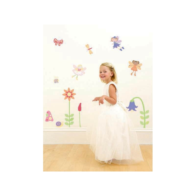 High Quality Enchanted Garden Fairies Girls Nursery And Bedroom Wall Sticker Kit Images