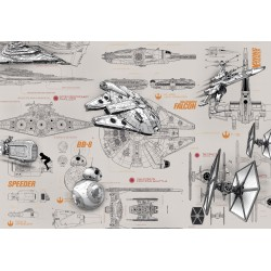 Star Wars BluePrint Wall Mural