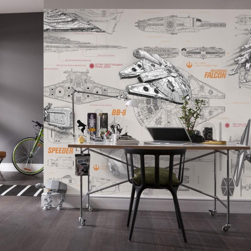 Star Wars Blueprint Wall Mural 8 705