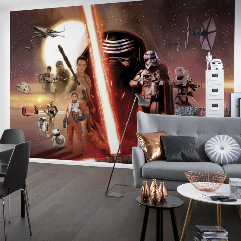 Star wars character wall mural 8 705 for Character mural