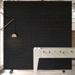 Black Brick Effect Wallpaper