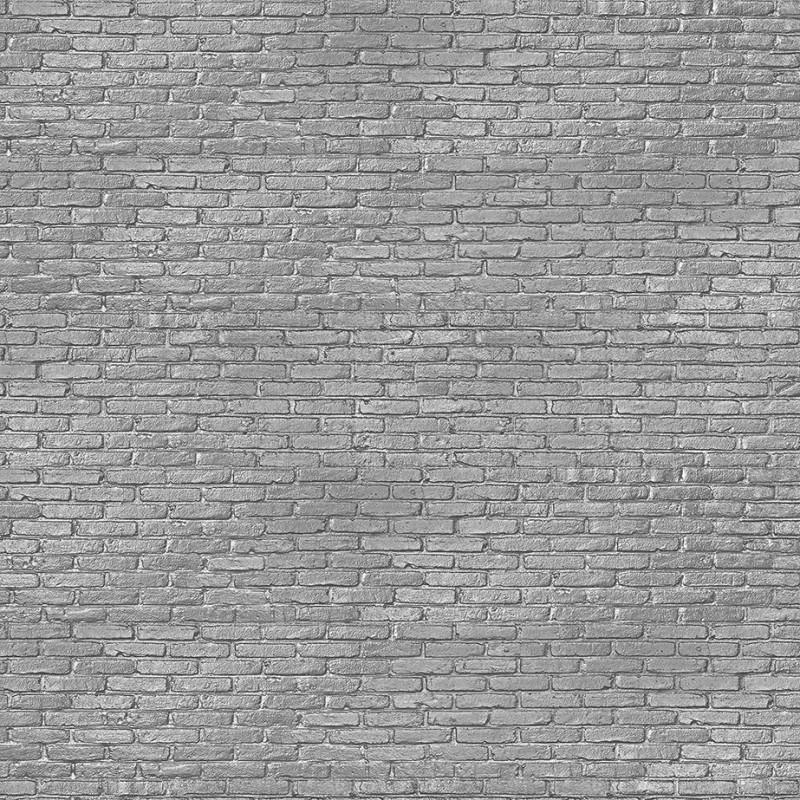 Grey Brick Wallpaper Silver Grey Brick Effect Wallpaper