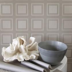Cube Pearl White Wallpaper