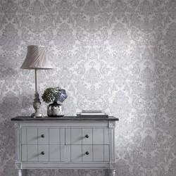 Montague Silver Grey Wallpaper
