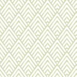 Vertex White and Pale Green Wallpaper