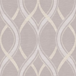 Frequency Lilac and Beige Wallpaper