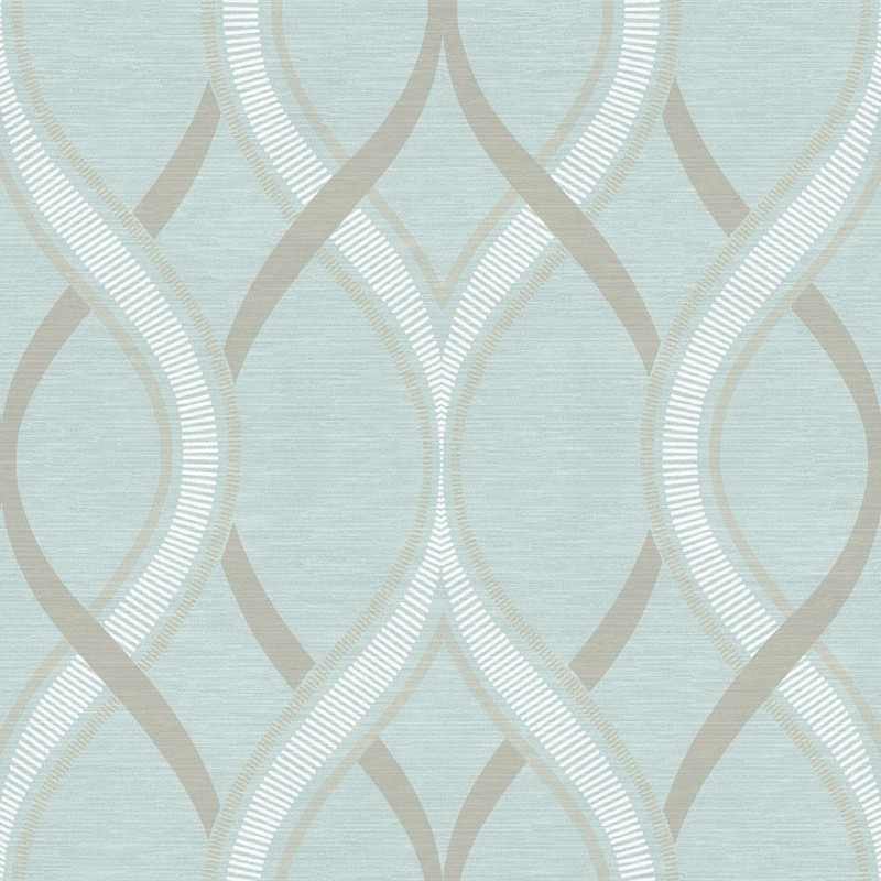 Buy Frequency Teal Blue Beige 2625-21851 Wallpaper Direct UK