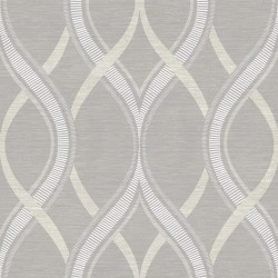 Frequency Grey and Beige Wallpaper
