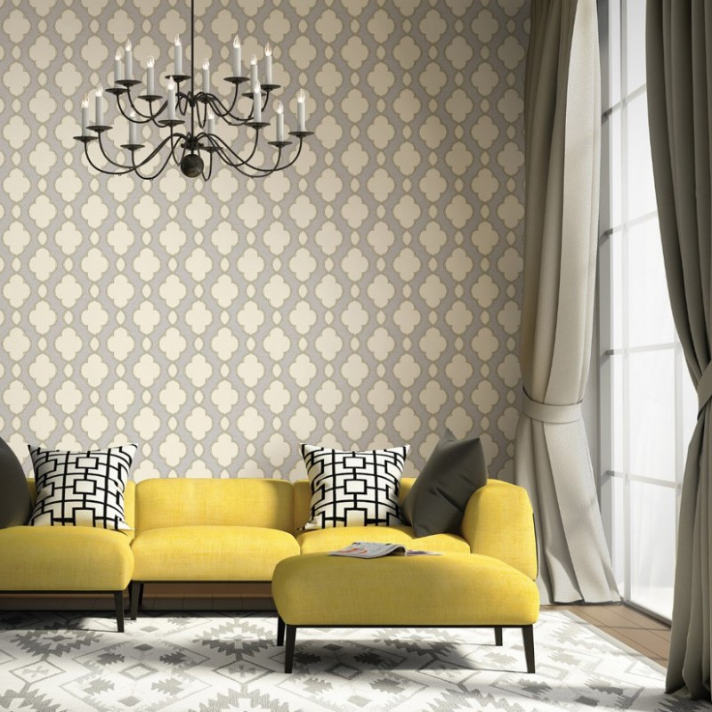 Buy structure grey cream yellow 2625 21820 wallpaper direct uk for Grey and cream wallpaper