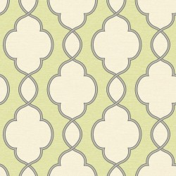 Structure Lime Green and Cream Trellis