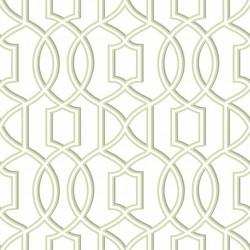 Quantum Pale Green and White Trellis