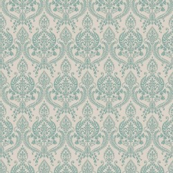 Petite Damask Turquoise Blue
