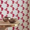 Poppy Fields Red & Gold Wallpaper