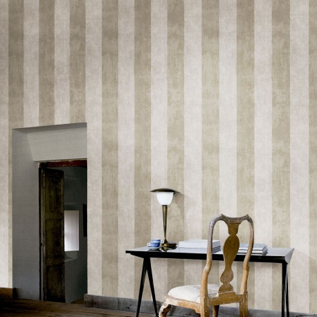Enderby Light Brown Striped Wallpaper