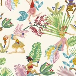 Calypso Dancers Verde Wallpaper