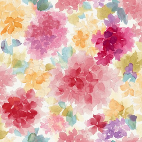 Mae red and pink floral wallpaper for Bright pink wallpaper uk