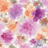 Mae Purple and Orange Floral Wallpaper