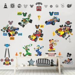 Walltastic Disney Mickey Mouse Roadster Racers Room Décor Kit