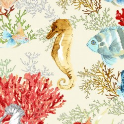 Peces Sea Life Golden Orange Wallpaper