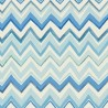 Zig Zag Multicoloured Blue Wallpaper